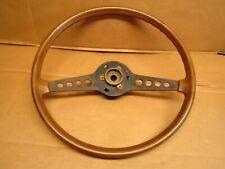 1974 Fiat Sport Spider 124 2 Door Convertible Steering Wheel Wood Grain OEM