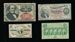 4 USA FRACTIONAL CURENCY NOTES > 1862-1863 > MUST SEE > NO RESERVE