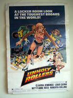 "Genuine Original 1972 ""Unholy Rollers"" Poster~Claudia Jennings,Roger Corman"