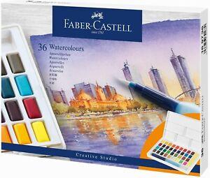 Faber-Castell Aquarellfarben in Näpfchen 36er Etui