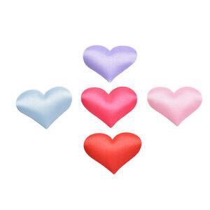 1 Set Heart Shape Fabric Flower Petals Wedding Party Confetti Table Decor  3_cd