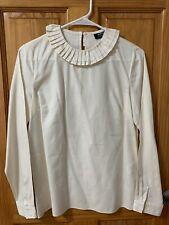 APC Ruffle Collar Blouse - Cream - Size 34