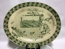 RARE ANTIQUE POWELL BISHOP & STONIER PB&S OVAL TRANSFERWARE PLATTER RD3 19THC