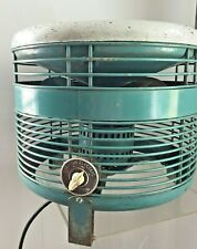 Vintage Teal Emerson Hassock Floor Electric Fan Retro Industrial MCM #74646BB