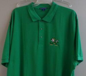 Notre Dame Irish Mascot NCAA Mens Embroidered Polo Shirt XS-6X, LT-4XLT New