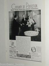 1939 HAMBURG AMERICAN Line advertisement, Hapag-Lloyd North German steamship