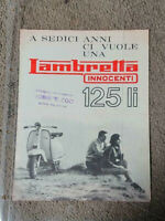 Lambretta Innocenti 125 LI tv  brochure original rare