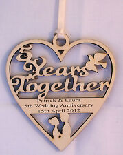 PERSONALISED 5TH YEAR ANNIVERSARY PLAQUE - ENGRAVED WITH YOUR OWN WORDING