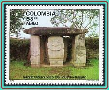 COLOMBIA 1979 PRE-COLUMBIAN ARCHAEOLOGY  SC#C677 MNH INDIANS