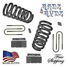"1998-2012 Ford Ranger Mazda B 2WD 3""-4"" Drop Coils Springs Blocks Lowering Kit"