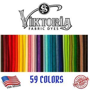Fabric Dye Viktoria All Purpose 59+ Fashion Colors DIY Tie Dye (0.35 Oz Powder)