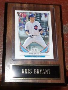 Baseball Card Plaque Kris Bryant Cubs 2014 (RC) Bowman Top Prospects TP-62