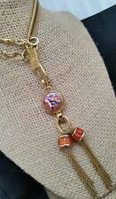 Tracy Porter Multi Color Faux Stone Pendant Tassle Snake Chain Necklace
