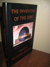 1st Edition THE INVENTION OF THE ZERO Richard Kenney POEMS First Printing POETRY