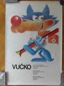 Sarajevo Olympic Winter Games 1984 100x70 cm 39x27 inch Mascot Vucko ORIGINAL