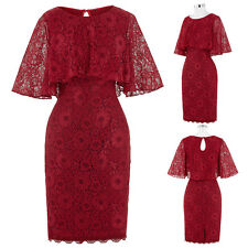 Women Lace Gown Formal Cocktail Evening Prom Party Bridesmaid Dress Summer NEW!