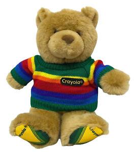 "GUND Crayola 10"" Bear Rainbow Sweater Teddy Plush Stuffed Animal Colors"