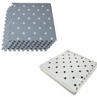 6-12-18-PC-With Carry Bag Interlocking Floor Foam Mat Living Room Kids Playmat