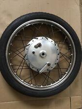 "Norton Dominator ES2 Atlas Front Wheel Dunlop MB41 WM2 -19 Full Width 8"" Hub"