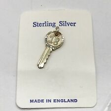 VINTAGE SOLID STERLING SILVER 18 YEAR OLD BIRTHDAY KEY PENDANT FOR NECKLACE