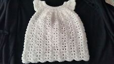 Christening Dress,  Handmade Crocheted size 3-6 months.