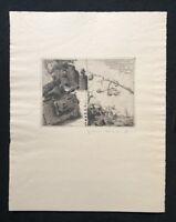 Jens Cords, Gruß an meine Freunde, Radierung, 1977, handsigniert und datiert