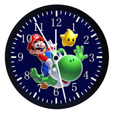 Super Mario Yoshi Black Frame Wall Clock Nice For Decor or Gifts W15