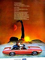 "1969 Ford Thunderbird The Moon And Sun Roof Original Print Ad 8.5 x 11"""