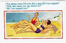 DONALD McGILL #2237 - I'd Never Kiss A Man Till I Was Engaged - c1950s postcard