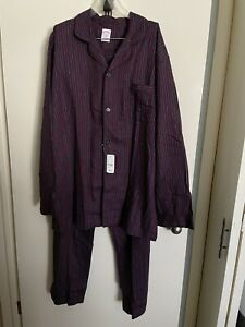NWT Brooks Brothers Mens Size XL 2 Piece Long Sleeve Flannel Striped Pajamas Set