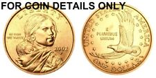 2002-P SAC $1 UNCIRCULATED BU SACAGAWEA GOLDEN DOLLAR 1 COIN   #2272