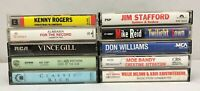 Lot of 10 Cassette Tapes ~ 70's, 80's, 90's, Country, Folk, Classic Country