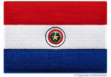 PARAGUAY FLAG embroidered iron-on PATCH PARAGUAYAN SOUTH AMERICAN EMBLEM