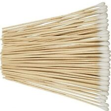 "New 100pc 6"" Cotton Tipped Applicator Swabs Wood * US SHIPPER *"