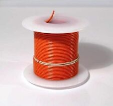 24 AWG UL1007 UL1569 ORANGE Hook-up Wire 100 foot spools ~ 10 Colors Available!