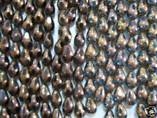 Glass Beads Gold Plated Drop Beads 10x15mm, Blue or Blk