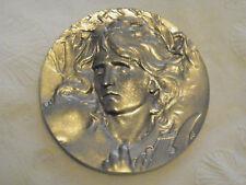 Orpheus Art Deco Art Noveau Pewter Tribute Medal