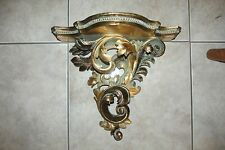 Vtg Gold Wall Shelf Sconce~Italian Florentine Rococo STYLE~HOLLYWOOD REGENCY