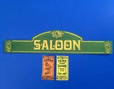 Playmobil Western * Saloon *autocollant - Sticker Maison Western