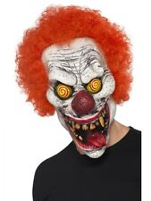 Twisted Clown Mask Red Hair Wide Smile Rotten Teeth ICP Adult Halloween Costume