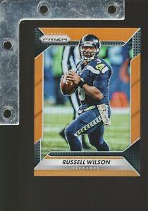 2016 Panini PRIZM NFL #193 Russell Wilson Orange REFRACTOR #/299 NM+ SEAHAWKS