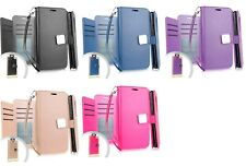 For Samsung Galaxy J2 Shine SM-J260AZDDATT Deluxe Wallet Pouch Case Phone Cover