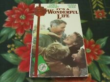 ~NEW~IT'S A WONDERFUL LIFE~BLACK & WHITE~VHS~JAMES STEWART~DONNA REED~GOODTIMES~