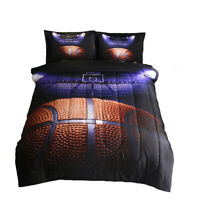 Comforter Set Basketball Quilt Doona + Pillowcase for Boy Sports Fans Full Size