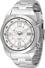 Lew and Huey Acionna Automatic 200M Divers Watch White & Red. UK Seller