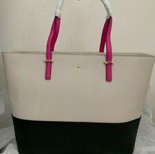 NWT Kate Spade Cedar Street Medium Harmony Leather Tote Bag $298 Black/Pebble/Vi