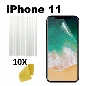 10 x Clear Plastic Screen Guard LCD Protector Film Layer - Apple iPhone 11