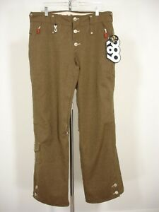 NWT LEVIS X 686 LIMITED EDITION BROWN SNOWBOARD PANTS BOA COMPATIBLE WOMEN'S L