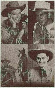 1940's All Star Cowboys 4-in-1 Exhibit Supply Co. Arcade Trading Card  (PLP0715)