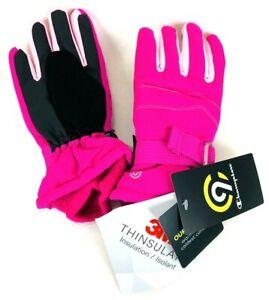 Champion Girls Snow Winter Ski Glove Pink 3M Thinsulte Warmest Waterproof sz 4/7